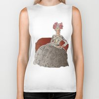 sofa Biker Tanks featuring woman in a sofa by Rosa Brualla