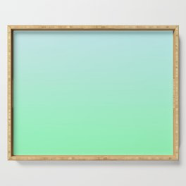 BIG WAVES - Minimal Plain Soft Mood Color Blend Prints Serving Tray