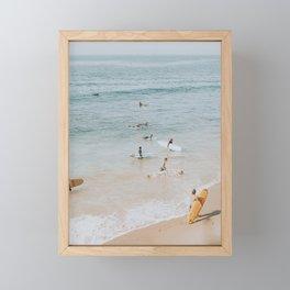 lets surf iii Framed Mini Art Print