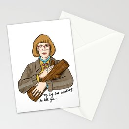 My log has something to tell you - the log lady illustration. Twin peaks character. Stationery Cards