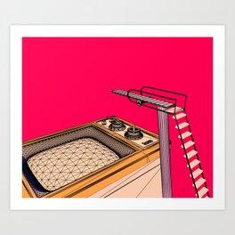 Swimming in Technicolor Art Print