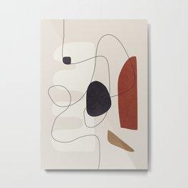 Abstract Minimal Shapes 27 Metal Print