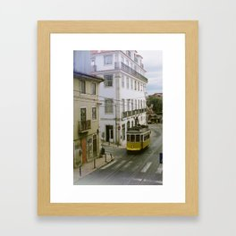 catch the tram Framed Art Print