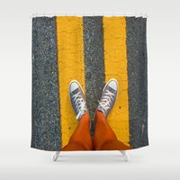 converse Shower Curtains featuring Converse Contrast by jyoshimitsuj