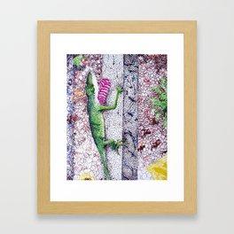 Lizard Friend Framed Art Print