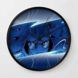 Lightning Dogs Strike Back by Tony Baldini Wall Clock