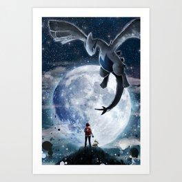 Legend of the moon Art Print