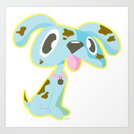 Kitty Sticker Pow! by: Colby Sunshine Art Art Print