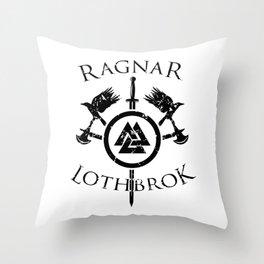 Ragnar Lothbrok | Viking Valhalla Norge Mythology Throw Pillow