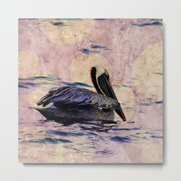 twilight pelican Metal Print