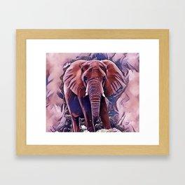 The African Bush Elephant Framed Art Print