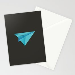 Blue Paper Plane Stationery Cards