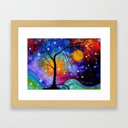 """Winter Sparkle"" Original Whimsical Contemporary Painting, Art by Megan Duncanson MADART Framed Art Print"