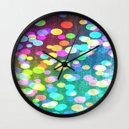 Confetti Lights Wall Clock