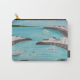 Harbour & sea view with distant hills Carry-All Pouch