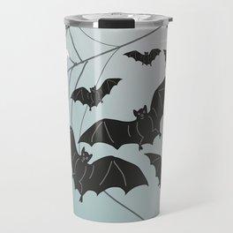 Bats & Monsters Halloween Spider Web Travel Mug