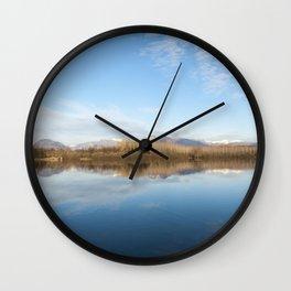 A blue lake Wall Clock
