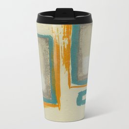 Soft And Bold Rothko Inspired - Modern Art - Teal Blue Orange Beige Travel Mug