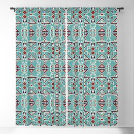 Native American Indians Navajo Pattern Blackout Curtain