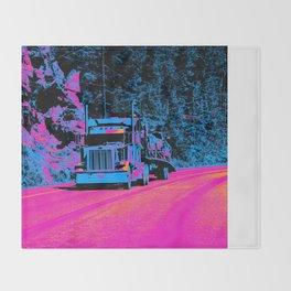 Big Rig Highway Hauler Throw Blanket