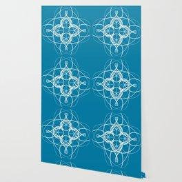 Blue White Swirl Wallpaper
