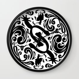 Spur Buckle (white) Wall Clock