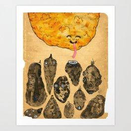 My Favourite Vegetable Art Print