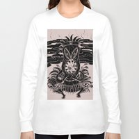 tiki Long Sleeve T-shirts featuring Tiki lunch by CHAUCHE