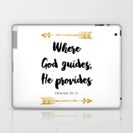 Isaiah 58:11 Bible Verse Laptop & iPad Skin