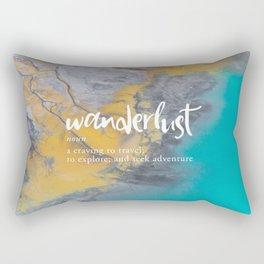 Wanderlust Definition - Topographical Map Rectangular Pillow