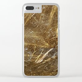 Golden Rutile Clear iPhone Case