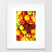 fruits Framed Art Prints featuring FRUITS by Ylenia Pizzetti