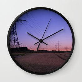 Fields of Twilight Wall Clock