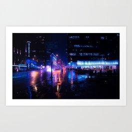 rainy nights in Vancouver Art Print