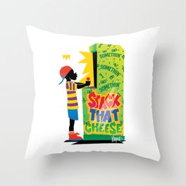 Stack That Cheese Throw Pillow