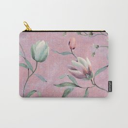 Bird on spring flowers Carry-All Pouch