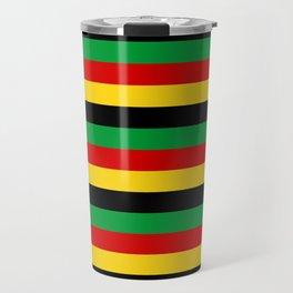 Guinea-Bissau Sao Tome and Principe flag stripes Travel Mug