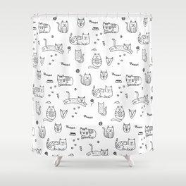 Kitties Shower Curtain