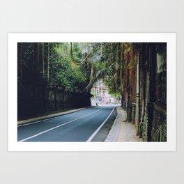 Ubud Road (Bali, Indonesia) Art Print