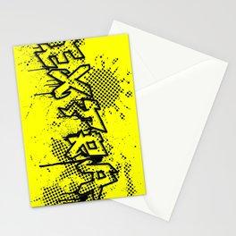 extra splash yellow and black grafitti design Stationery Cards