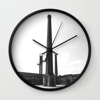 industrial Wall Clocks featuring Industrial by Renata's Photobox