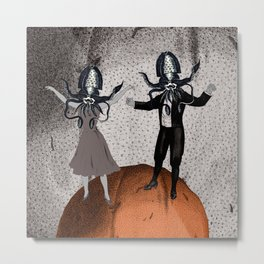 Orange Alien Nation Metal Print