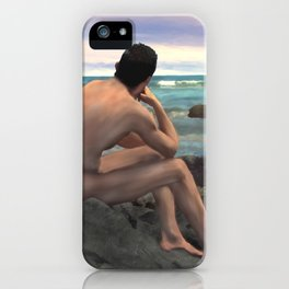 Nude Male by the Sea iPhone Case