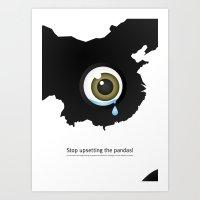 Giant Panda Conservation Art Print