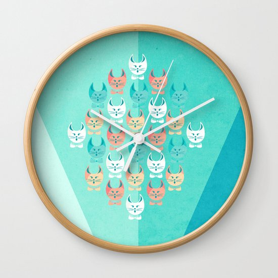 Singing Cats Wall Clock