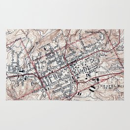 Vintage Map of Chapel Hill North Carolina (1946) Rug