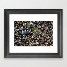 pool of pebbles  Framed Art Print