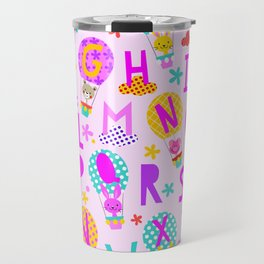 Alphabet prints for little ones' bedrooms, nurseries, and playrooms Up up & away Travel Mug