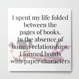 Paper Characters Metal Print