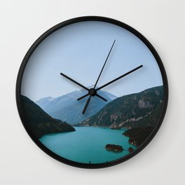 Mountain Lake II Wall Clock